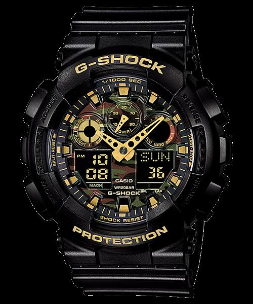 國外代購 CASIO G-SHOCK 極地迷彩 黑金 GA-100CF-1A9JF 防水 手錶 腕錶 電子錶 男女錶
