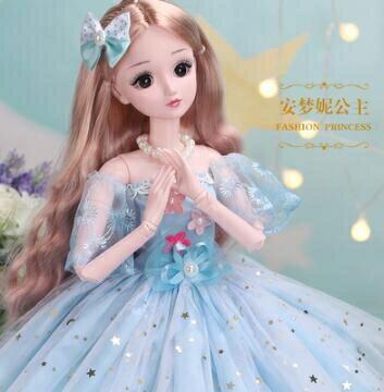 芭比娃娃 60厘米怡甜芭比超大號洋娃娃公主套裝女孩仿真玩具單個布【快速出貨八折下殺】 8號時光