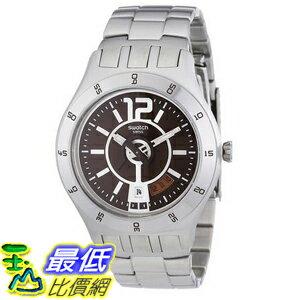 [美國直購] Swatch Men's YTS406G Quartz Date Stainless Steel Burgandy Dial Watch 手錶
