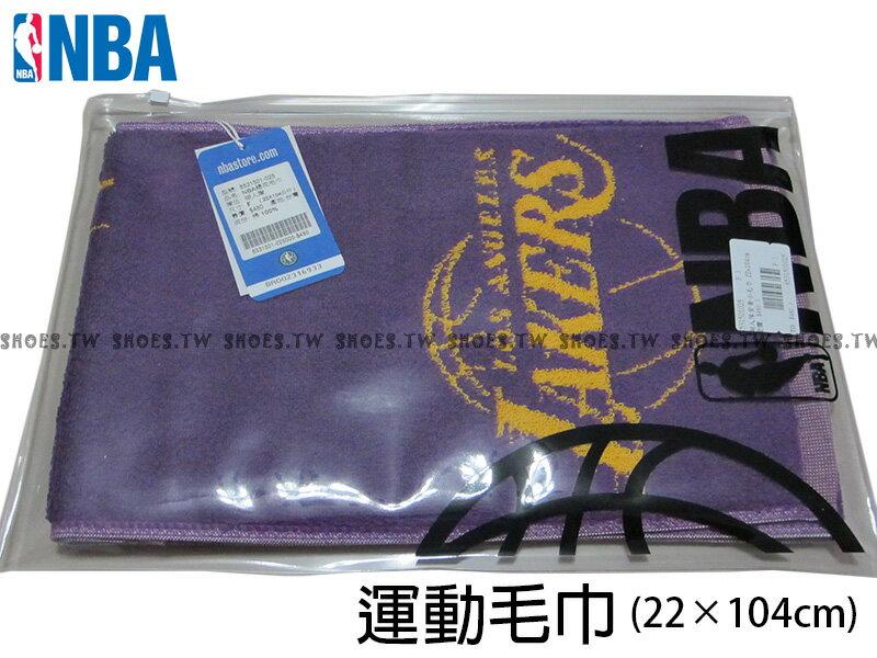 Shoestw【8531501-025】NBA毛巾 純棉 運動毛巾 長方巾 加油毛巾 22CMX104CM 湖人隊 2