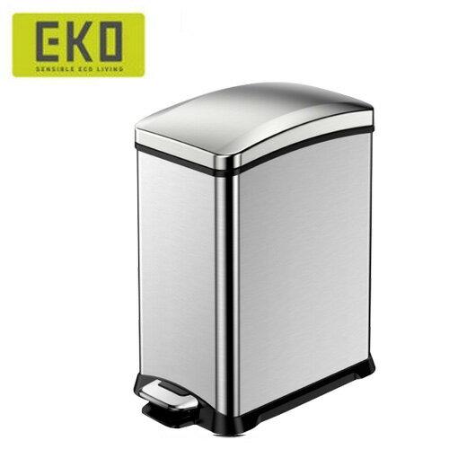 EKO 樂活緩降靜音不鏽鋼垃圾桶 8L / 15L - 限時優惠好康折扣