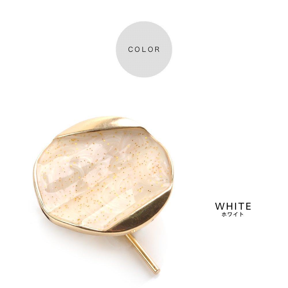 日本CREAM DOT  /  ポニーフック ヘアカフス ヘアゴム 大人っぽい シンプル おしゃれ ヘアアクセサリー マーブル 丸 サークル ホログラム 大人カジュアル シンプル 可愛い ゴールド ホワイト ピンク ブルー  /  qc0461  /  日本必買 日本樂天直送(690) 2