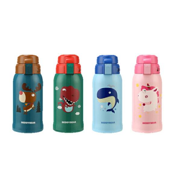 【免運】韓國BeddyBear 不銹鋼保溫吸管杯 / 兒童保溫瓶 / 吸管水杯水壺 1
