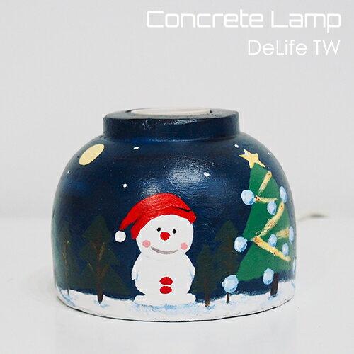 DeLife 聖誕氣氛水泥燈座- 附LED愛迪生燈泡 2