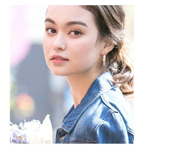 日本CREAM DOT  /  ピアス ヘリンボーン フープ C型 メタル レディース ブライダル アクセサリー プレゼント 女性 outlet  /  qc0121  /  日本必買 日本樂天直送(700) 8