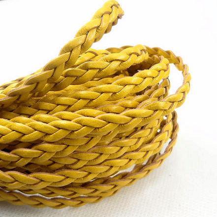 DIY手工飾品配件 8MM寬三股麻花編織硬質皮繩皮條 2色