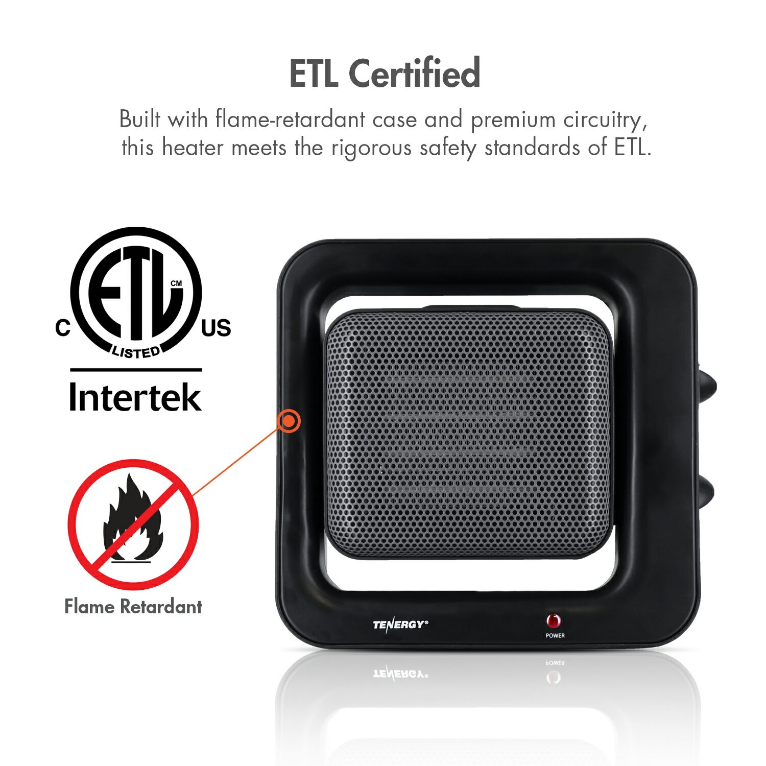 Tenergy Portable Space Heaters With Adjule Thermostat 900w 1500w Ptc Ceramic Heater Auto Shut Off