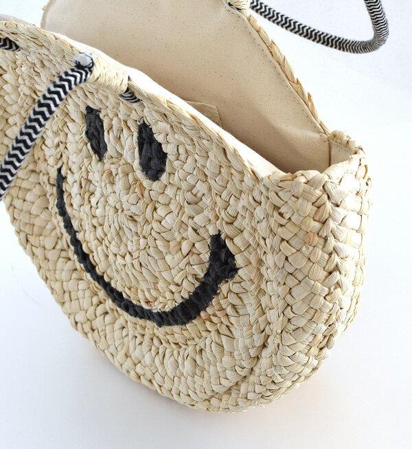 日本e-zakka / 圓型微笑編織手提包 / 21591-1801074 / 日本必買 代購 / 日本樂天直送(5900) 8