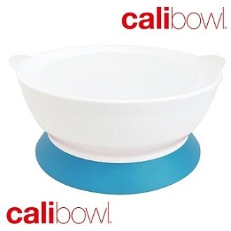 美國【Calibowl】專利防漏防滑幼兒吸盤碗- 單入附蓋 (三色可選)