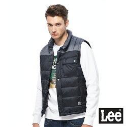 Lee 保暖舖棉背心/UR-男款-藍