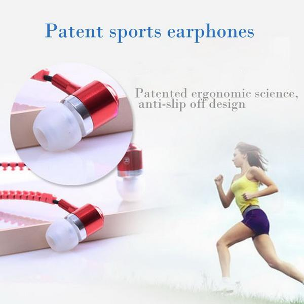 Universal 3.5mm Jack In-Ear Earphone Zipper Closure Earbuds Headphone with Mic for Phone PC Computer 2