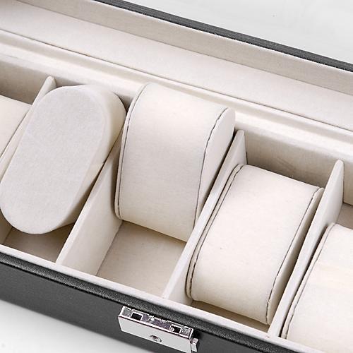 Watch Leather Box Lockable Jewelry Storage Organizer Case 2