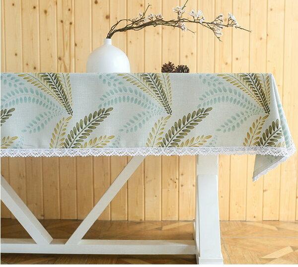 麻吉小舖:田園清新風桌布茶几桌布長方形餐桌布提花桌布-蘆葦單售