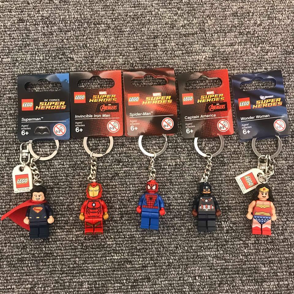 聖誕節禮物 BEETLE 現貨 LEGO 樂高 漫威 復仇者聯盟 美國隊長 蜘蛛人 超人 神力女超人 鋼鐵人 鑰匙圈
