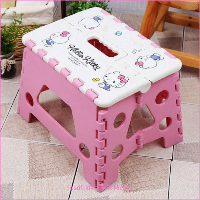 asdfkitty可愛家☆KITTY粉紅色小鴨子折疊椅/收納椅-可折收-郊遊野餐好用-韓國正版商品