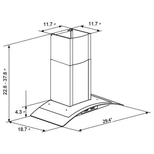 Akdy Akdy 30 Gv H703s 75 Europe Style Stainless Steel Wall Range