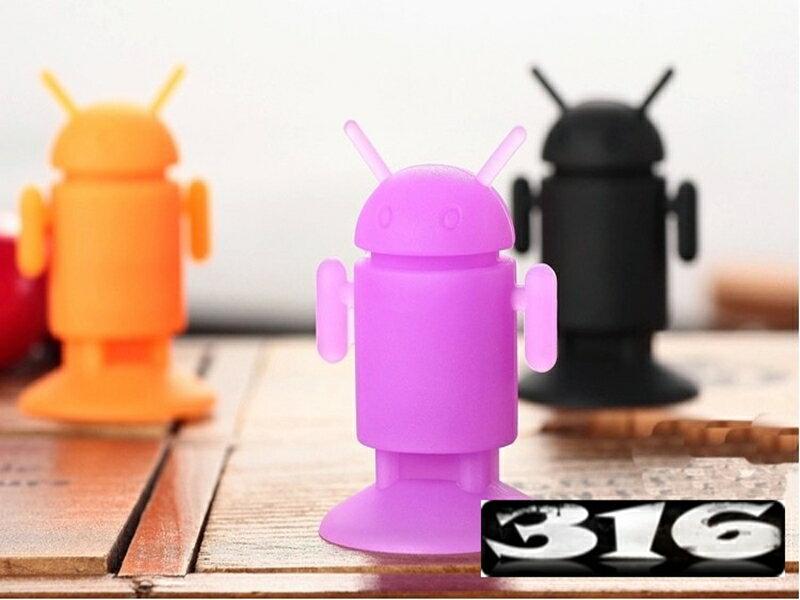 《316小舖》【GA12】(手機支撐架-機器人吸盤支撐架-單件價 /小米手機支撐架/三星支撐架/蘋果支撐架/手機底座)