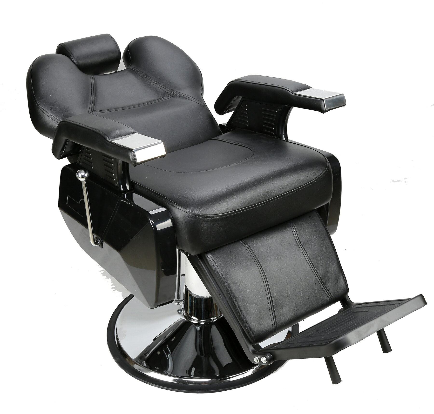 BarberPub All Purpose Hydraulic Recline Salon Beauty Spa Styling Barber  Chair Black