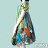 【Milida,全店七折免運】-印花系列-澎袖裙襬洋裝 1