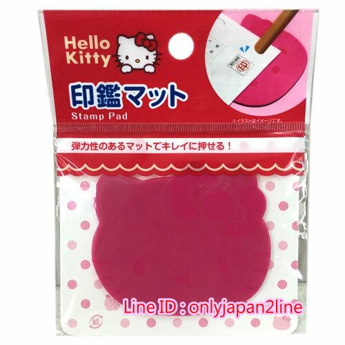 【真愛日本】16100700010 頭型蓋章專用軟墊-KT 凱蒂貓 三麗鷗 KITTY 文具 印章