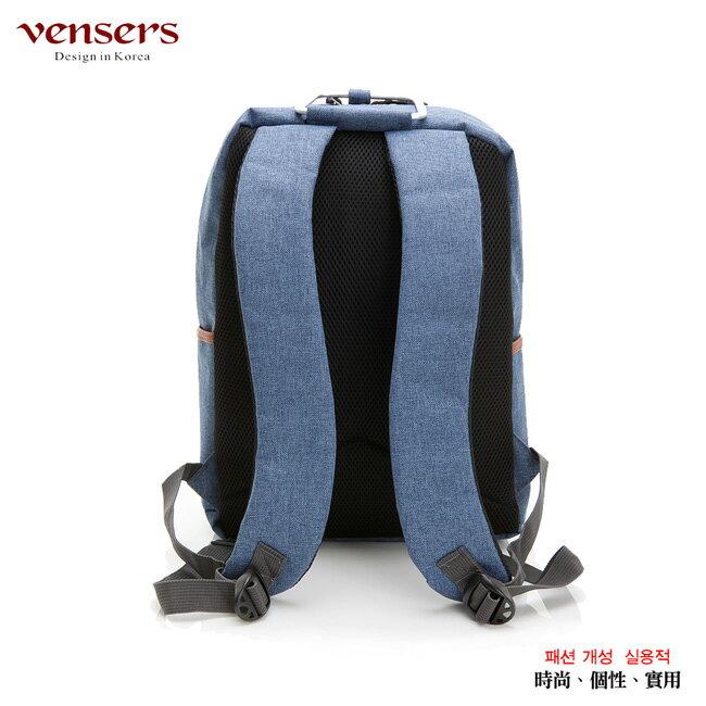 【vensers】簡約丹寧牛仔後背包(R00066103牛仔藍) 1