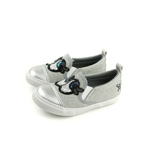 ArnoldPalmer懶人鞋亮片大眼睛銀色中童童鞋883605-820no956