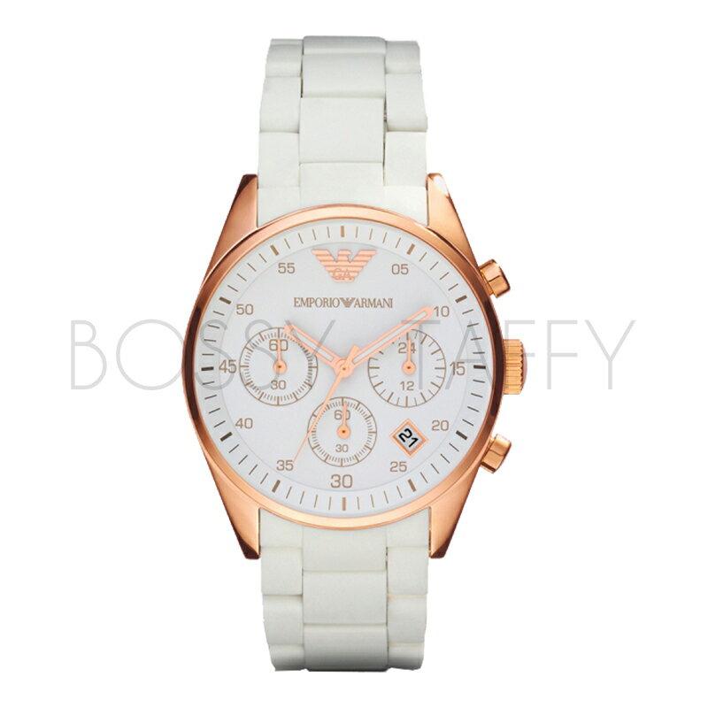 AR5920 ARMANI 亞曼尼 時尚玫瑰金不鏽鋼石英錶
