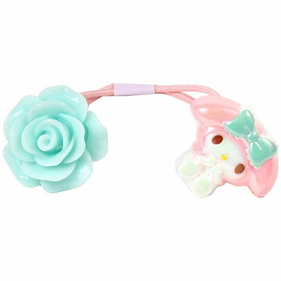 【真愛日本】16042800041髮束-MM珠光玫瑰藍  三麗鷗家族 Melody 美樂蒂   髮圈 生活用品 美妝