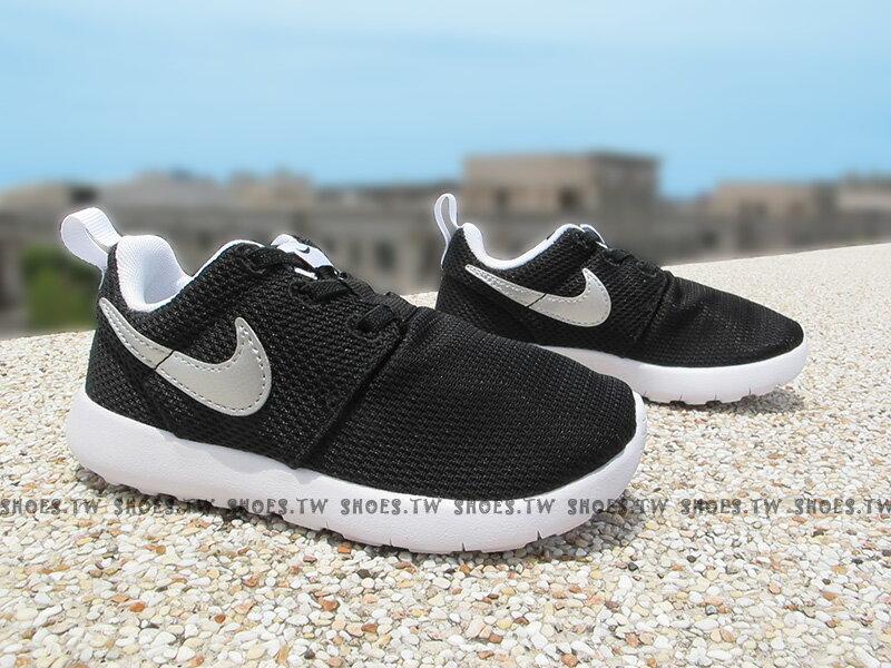 Shoestw【749430-021】NIKE ROSHE ONE PSV 小童鞋 黑銀勾 親子鞋
