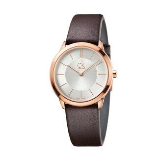 CK MINIMAL(K3M226G6)玫瑰金簡約時尚腕錶/白面35mm