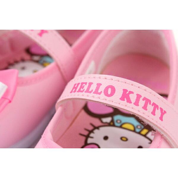 Hello Kitty 凱蒂貓 娃娃鞋 皮質 粉紅色 中童 童鞋 718742 no774 2