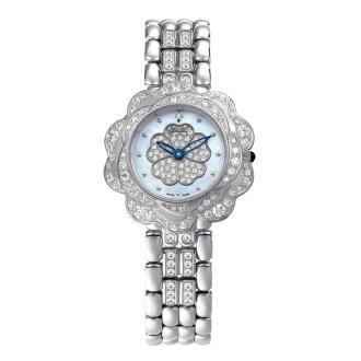 愛其華Ogival山茶花系列(305-14DLW-Blue)璀璨動人腕錶/藍面33mm