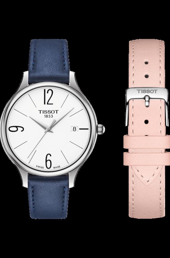 TISSOT 天梭 T1032101601700 BELLA ORA 皮帶石英女腕錶 38mm 2
