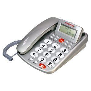 【威利家電】PROTON普騰來電顯示有線電話~灰色 PTE-003