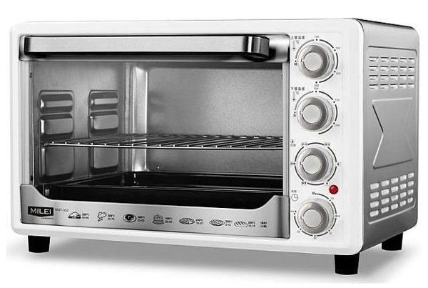 【威利家電】】【刷卡分期0利率+免運】MILEI 米徠32L不鏽鋼旋風大烤箱 MOT-332