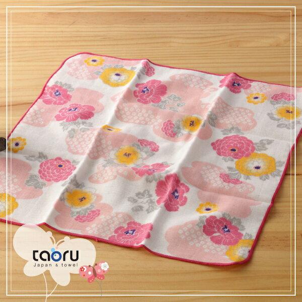 日本毛巾:和的風物詩_花霞30*30cm(手巾和服風雅--taoru日本毛巾)