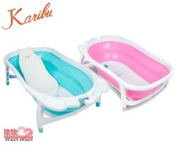 Karibu凱俐寶 Tubby時尚折疊式嬰幼澡盆(0-3歲),旅行和收納輕鬆不費力