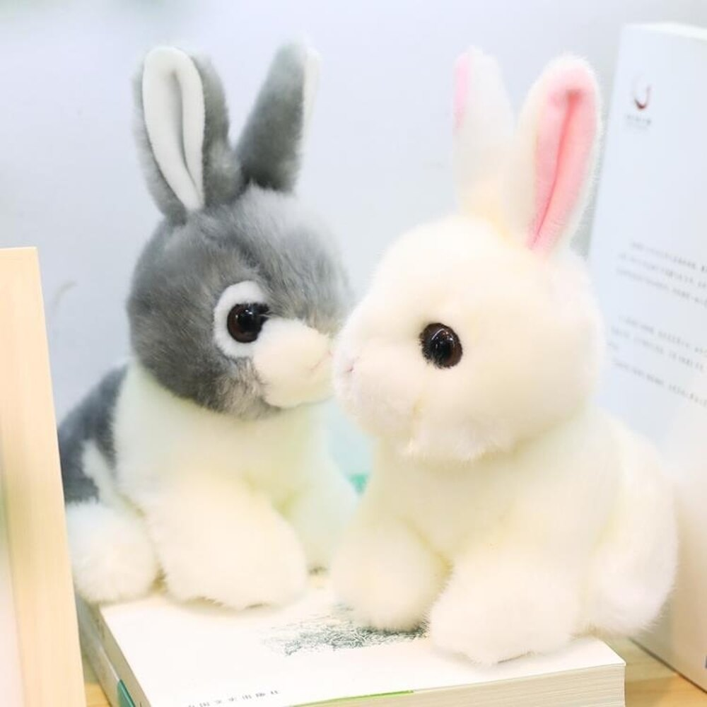 毛絨玩具 仿真兔兔公仔毛絨玩具小白兔子布娃娃可愛兒童玩偶男女孩生日禮物 維多原創 免運