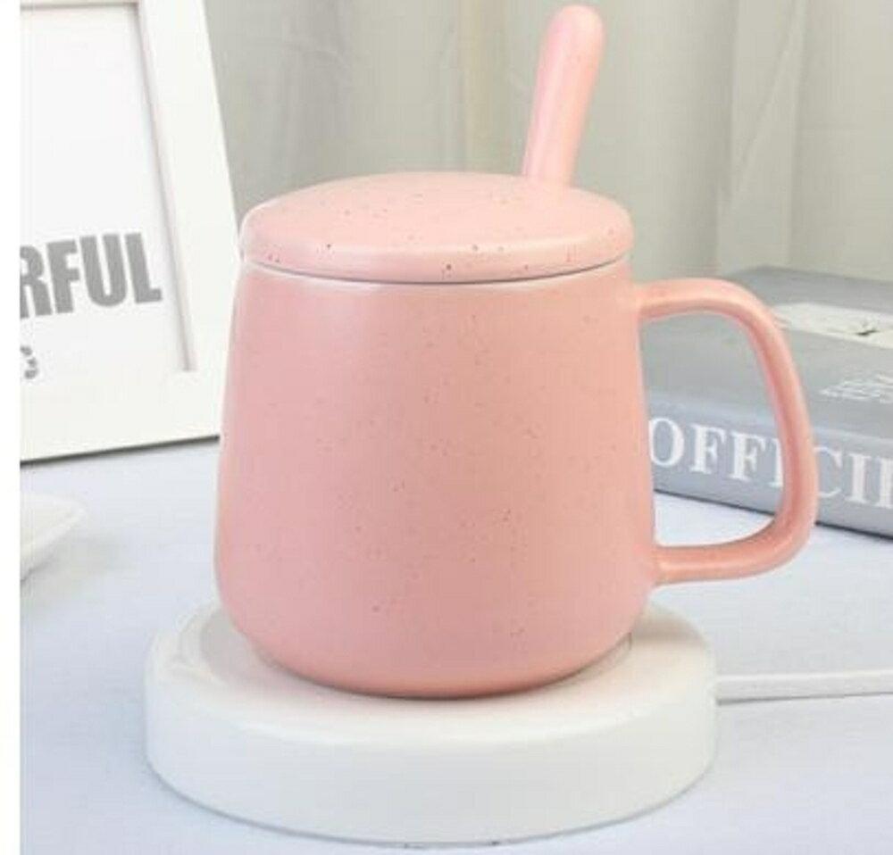 恒溫暖暖杯55度自動保溫杯牛奶加熱器恒溫馬克杯帶蓋勺保 艾家生活館 220V