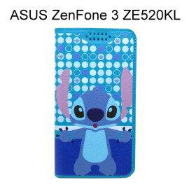 迪士尼彩繪皮套 [普普史迪奇] ASUS ZenFone 3 ZE520KL (5.2吋)【Disney正版授權】