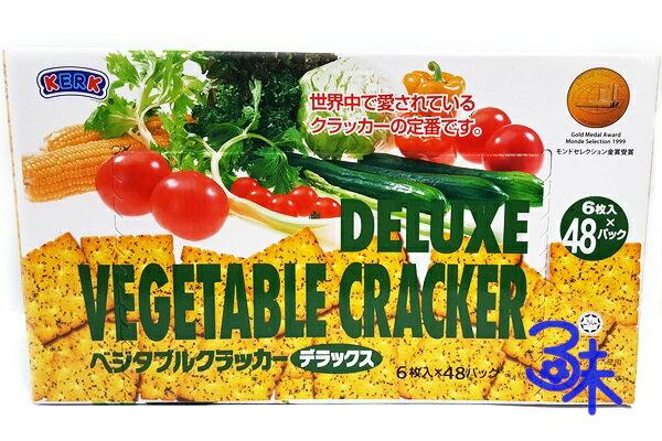 (馬來西亞) Deluxe 迪樂斯 蔬菜蘇打餅 (迪樂斯蔬菜薄脆餅)1盒 1065 公克 (48入) 特價 209 元 【9556085318574 】( 中元普渡 聚會點心)