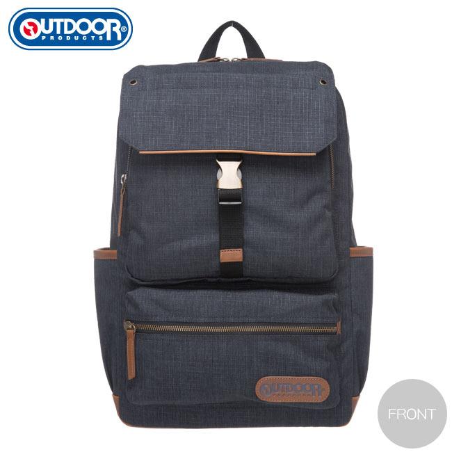 【OUTDOOR】都很俊系列-14吋電腦後背包-深藍OD161167NY《品文創》