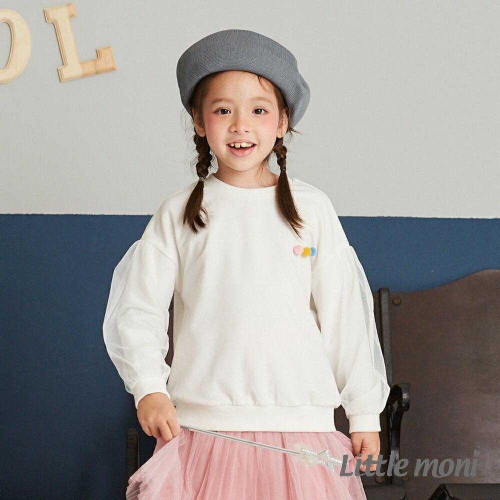 Little moni 圓領毛球造型上衣-白色(好窩生活節) 1