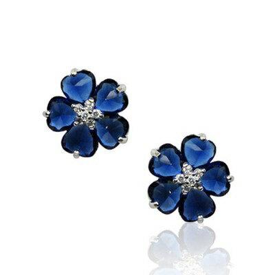 925純銀耳環鑲鑽耳飾~奢華耀眼精緻迷人情人節 女飾品73gs180~ ~~米蘭 ~