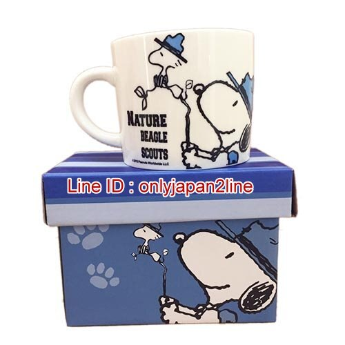 【真愛日本】17011200018馬克杯-SN野營藍  史努比 SNOOPY 馬克杯 水杯