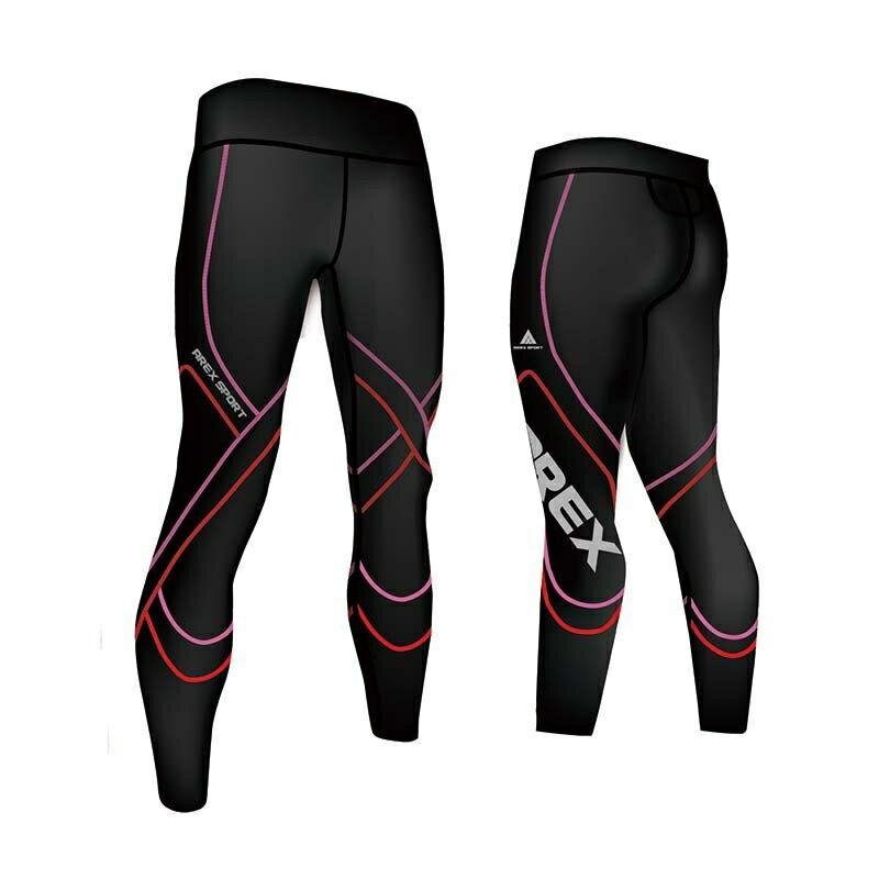 【台灣製-強效專業款】AREX SPORT 女款萊卡經典強力包覆壓縮褲-二代  壓力褲 內搭褲 束褲 緊身褲 XS-XL 1