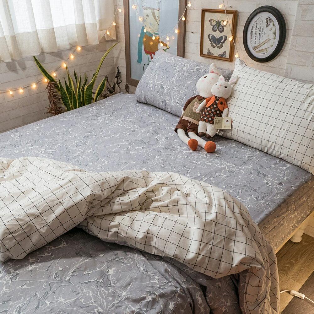 精梳棉 單人 / 雙人床包+薄被套組 台灣製造 棉床本舖 7