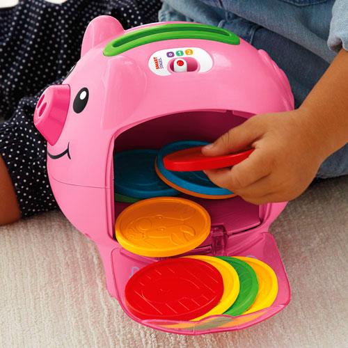 【限量特價】Fisher-Price 費雪 智慧學習小豬撲滿【悅兒園婦幼生活館】 4