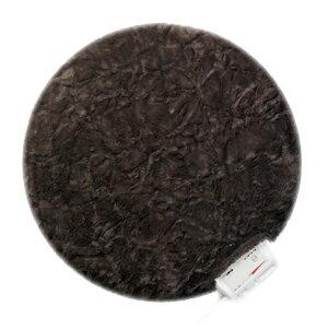 <br/><br/>  Lourdes圓形絨毛保暖電熱毯墊(可可棕)65RBR<br/><br/>