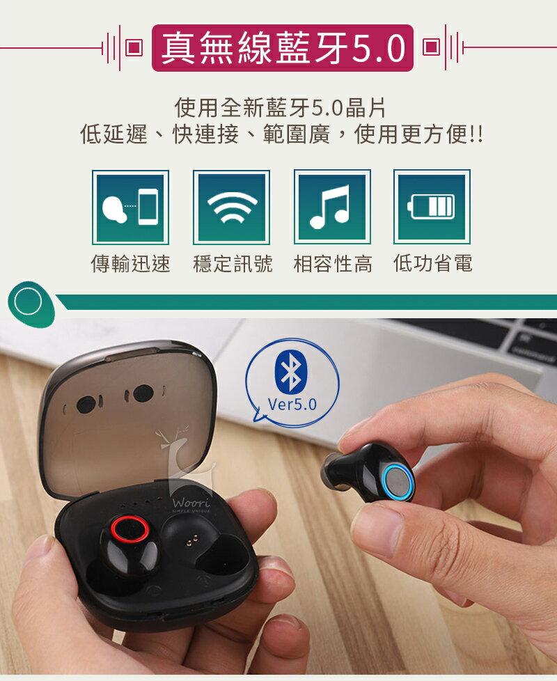 【公司貨】K11 防汗防水 5.0無線藍牙耳機 方盒運動藍芽耳機 聽音樂LINE通話 語音控制 雙耳獨立使用 磁吸充電盒 1